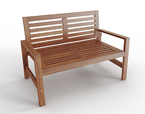 3D model APPLARO Bench with backrest outdoor