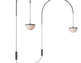 Ceiling pendant lamp KRANE LARGE and SMALL CEILING 3D