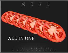 3D model Slice of Tomato All in One