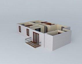 2 Bedroom Apartment 3D model