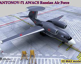 3D model ANTONOV-71 AWACS USSR Russian Air