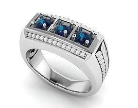 Gents Enamel Ring 005 3D print model