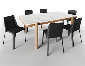 Gustav Table and isabelle chair 3D model