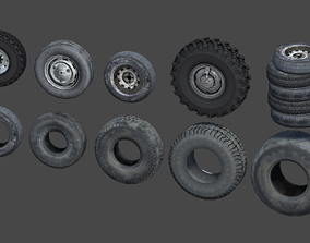 Tire and Wheel Pack 3D asset