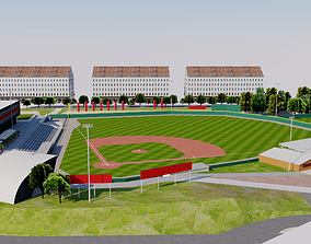 3D model Armin Wolf Arena - Germany Baseball