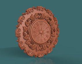 Wall clock 3d stl model for cnc carving