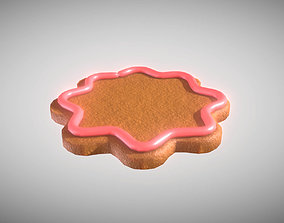 3D asset Gingerbread low-medium poly with pink