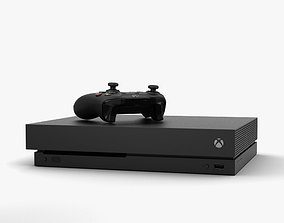 Microsoft Xbox One X 3D model