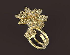 Lotus Ring STL 3D printable model