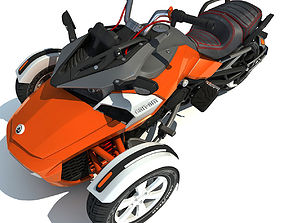 3D Three-wheeled Motorcycle