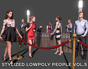 Stylized Lowpoly People Casual Pack Volume 3D asset