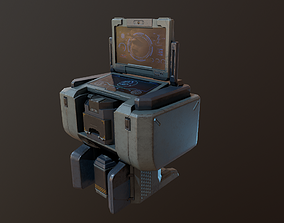 game-ready computer PBR Game Ready Low-poly 3D model