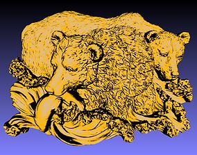 Fishing bears 3D print model
