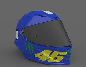 Valentino Rossi Helmet MOTOGP Ready 3D printable model 3