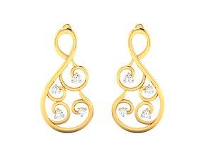 gem jewelry Women earrings 3dm render detail