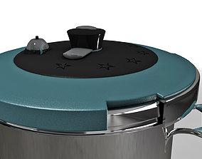 PBR game ready Pressure Cooker 3D asset