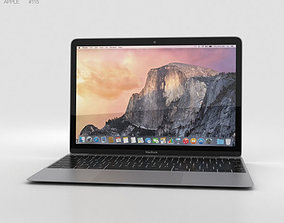 3D model Apple MacBook Space Gray