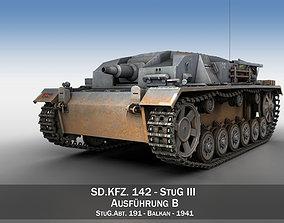 panzer 3D model StuG III - Ausf B - StuG Abt 191