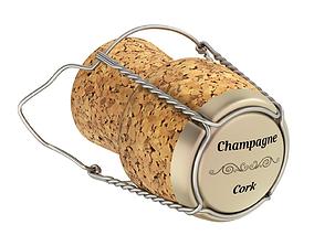 3D Champagne Cork