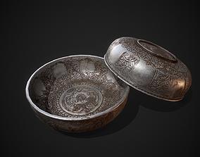 PBR Silver Bowl 3D asset