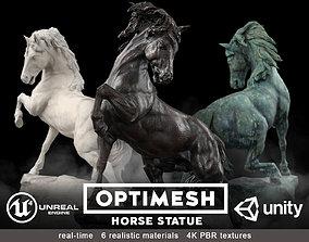 park Horse Statue - 3D PBR model low-poly