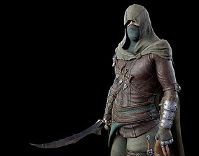Assassin 3D model animated