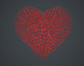 3D model Heart shape made out of wires symbol