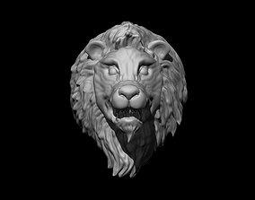 Lion head zbrush tool 3D model predator
