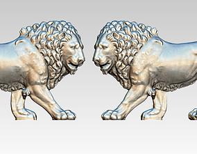 3D print model Flat relief Lion Tiger