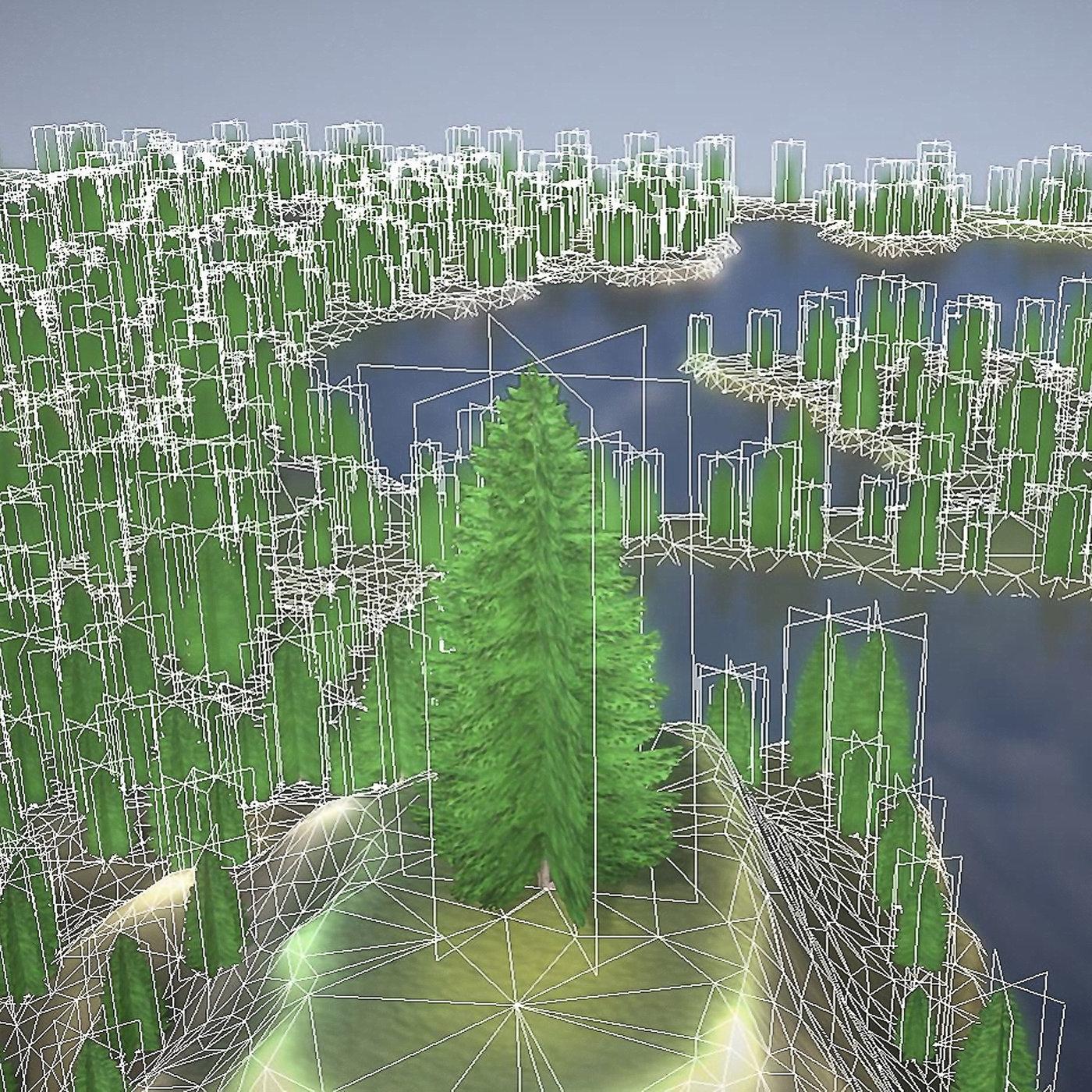 Spruce Trees   Billboard Version