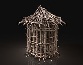 Next Gen AAA Round Animal Cage made of sticks 3D model