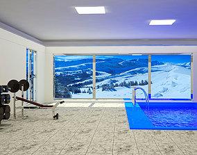 interior room gym 3D model