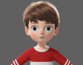 3D Cartoon Boy NoRig