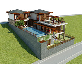 3D model Luxury Contemporary House