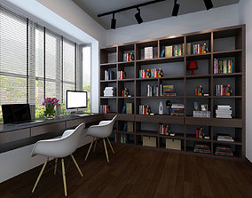 Study home library 3D model