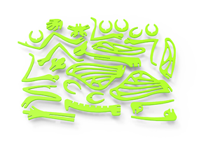 Green Mantis Puzzle 3D print model