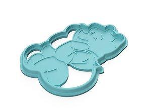 food Cookie-cutter Winnie the pooh 3D print model
