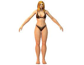 Human Female Full Rig and HumanIK 3D asset