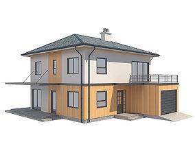 3D asset Cottage House 4