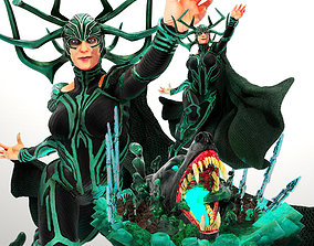 Wicked Marvel Hela Sculpture STLs ready for printing