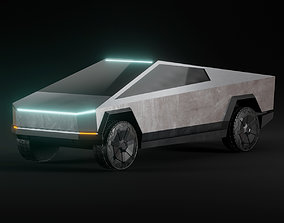 Tesla Cybertruck 3D asset low-poly PBR