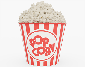 Popcorn 3D asset