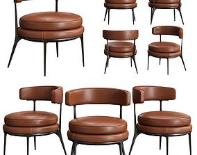 3D model Maxalto caratos easy chair