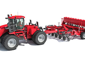 3D Articulated Tractor with Seed Drill