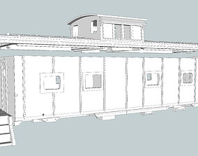 M5 Caboose N Scale SCL 3D printable model