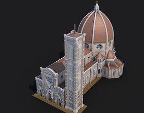 3D asset Florence Cathedral Landmark