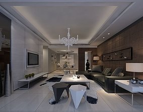 Modern Drawing Room - 02 3D model