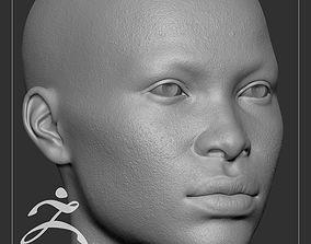 3D model Average Black Female Head Basemesh