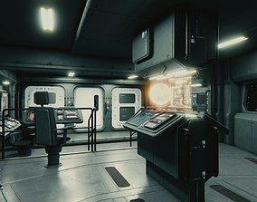 3D model Starship Command Center PBR High Poly