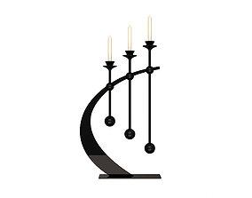 Candlesticks 3D model realtime